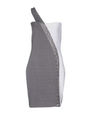 Платье до колена JOLIE CARLO PIGNATELLI. Цвет: серый