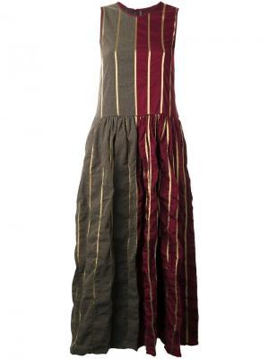 Платье макси в полоску Uma Wang. Цвет: многоцветный