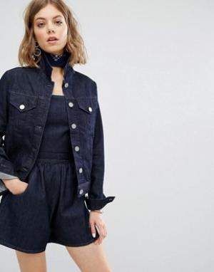 Vale Приталенная джинсовая куртка. Цвет: синий