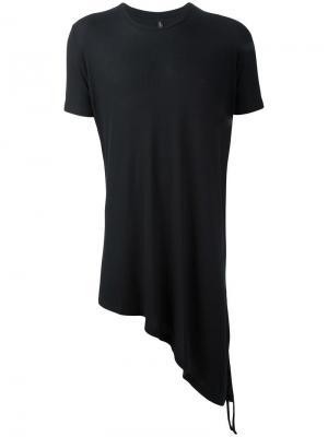 Асимметричная футболка Tom Rebl. Цвет: чёрный