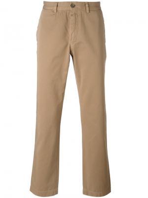 Классические брюки чинос Sunspel. Цвет: телесный