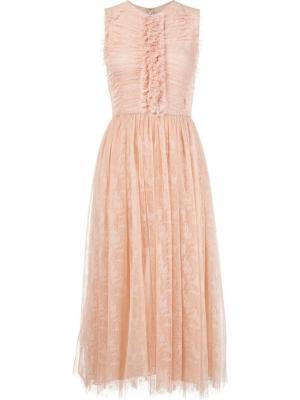 Кружевное платье без рукавов Jason Wu. Цвет: розовый и фиолетовый
