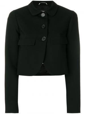 Укороченный пиджак на пуговицах Rochas. Цвет: чёрный