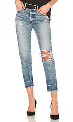 Зауженные джинсы ceder Moussy. Цвет: none