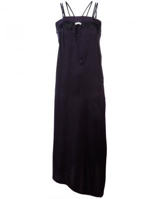 Длинное платье с вырезными деталями Dondup. Цвет: синий