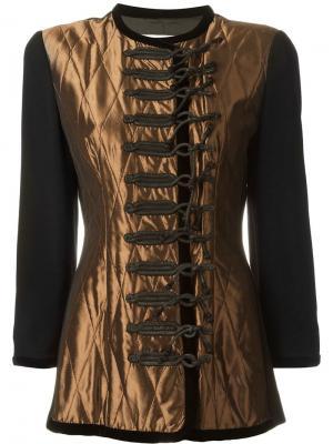 Пиджак со стегаными панелями Christian Dior Vintage. Цвет: чёрный