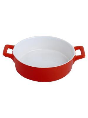 Форма для запекания керамика (духовка/гриль/микроволновка), D 24 см FRANK MOLLER. Цвет: красный
