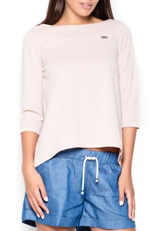 Блуза KATRUS. Цвет: розовый