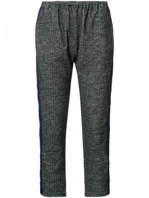 Укороченные брюки с эластичным поясом Engineered Garments. Цвет: серый