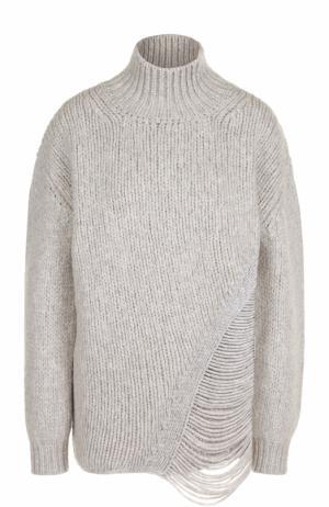 Шерстяной свитер свободного кроя Iro. Цвет: светло-серый