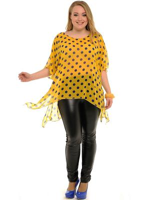 Блузка SVESTA. Цвет: желтый, синий