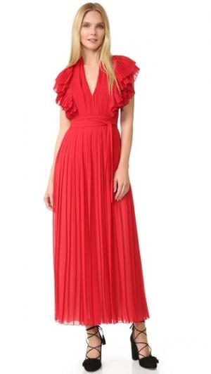 Вечернее платье Philosophy di Lorenzo Serafini. Цвет: красный