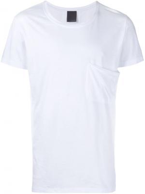 Футболка с накладным карманом Lot78. Цвет: белый