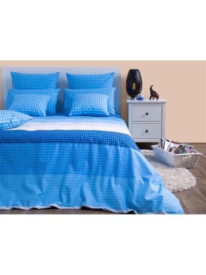 Постельное белье Хлопковый Край. Цвет: голубой, синий