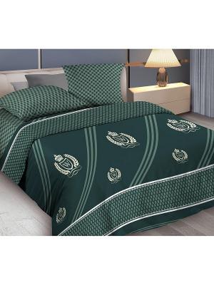 Комплект постельного белья 2,0 бязь Gallant Wenge. Цвет: зеленый