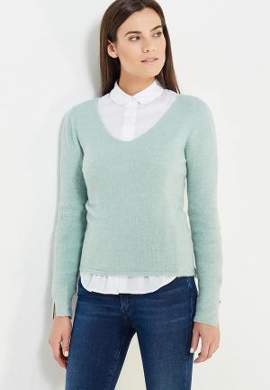 Пуловер Twin-Set Simona Barbieri. Цвет: бирюзовый