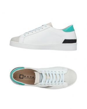 Низкие кеды и кроссовки D.A.T.E.. Цвет: белый