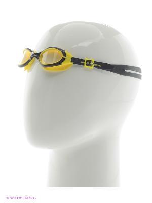 Очки для плавания юниорские UV BLOKER Junior Mad Wave. Цвет: черный, желтый