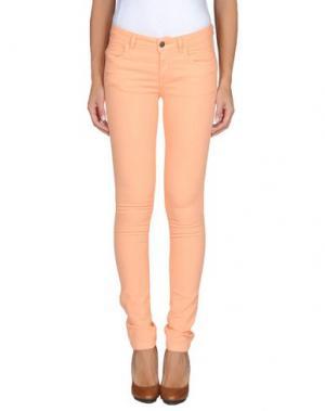Повседневные брюки GOLD CASE. Цвет: лососево-розовый
