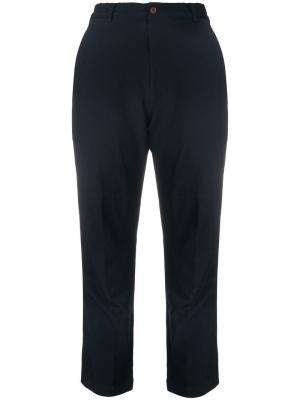 Зауженные укороченные брюки Comme Des Garçons. Цвет: синий