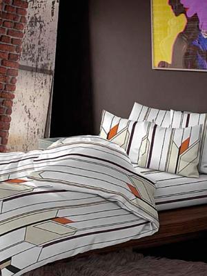 Комплект постельного белья, Принстон Волшебная ночь. Цвет: белый, бежевый