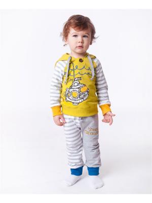 Комплект одежды VATAGA. Цвет: серый меланж, салатовый