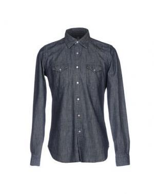 Джинсовая рубашка ELEVENTY. Цвет: синий