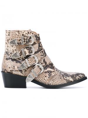 Ботинки с пряжками Toga Pulla. Цвет: телесный