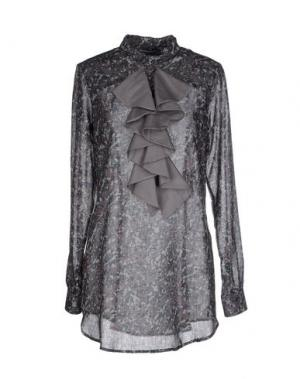 Блузка LA CAMICIA BIANCA. Цвет: свинцово-серый