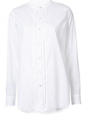 Рубашка с воротником стойкой NSF. Цвет: белый