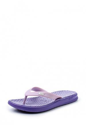 Сланцы Nike. Цвет: фиолетовый