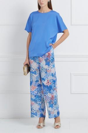 Шелковые брюки Alexander Terekhov. Цвет: multicolor