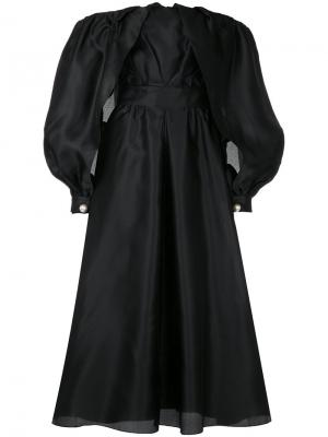 Open balloon sleeve dress Ingie Paris. Цвет: чёрный