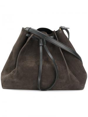 Маленькая структурированная сумка-тоут Maison Margiela. Цвет: серый