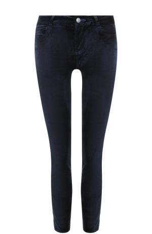 Укороченные бархатные джинсы-скинни Paige. Цвет: синий