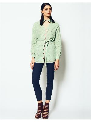 Блузка LO. Цвет: зеленый