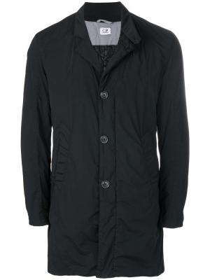 Однобортное пальто CP Company. Цвет: чёрный