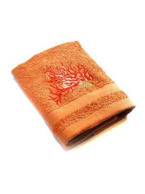 Полотенце Коралл La Pastel. Цвет: оранжевый