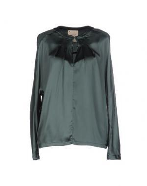 Блузка GARAGE NOUVEAU. Цвет: зеленый