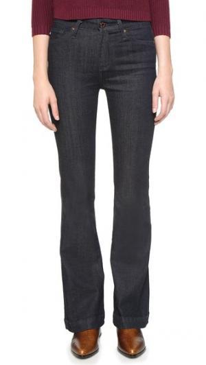 Расклешенные джинсы Janis для женщин маленького роста AG. Цвет: синий