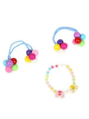 Набор аксессуаров(браслет и 2 резиночки) Accsessory. Цвет: голубой