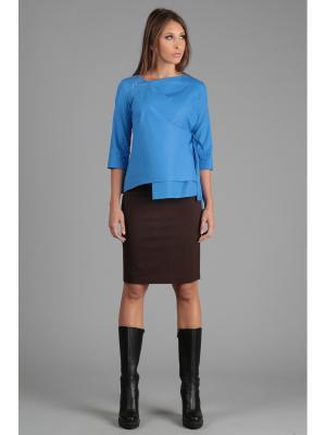 Блуза ЭНСО. Цвет: голубой