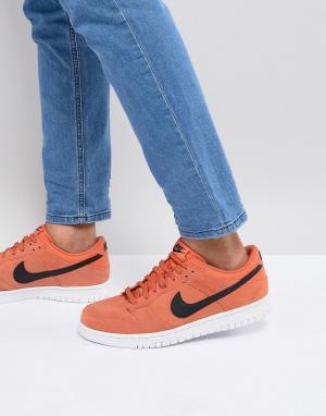 Nike Оранжевые низкие кроссовки Dunk 904234-800. Цвет: оранжевый