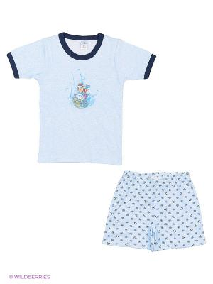 Пижама для мальчика (самолетик), Квирит. Цвет: морская волна, темно-синий, синий