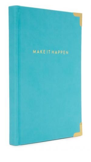 Записная книжка Make It Happen с золотистыми уголками Gift Boutique