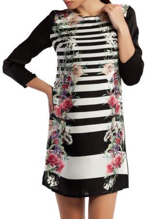 Летнее платье с принтом Tom Farr. Цвет: черный