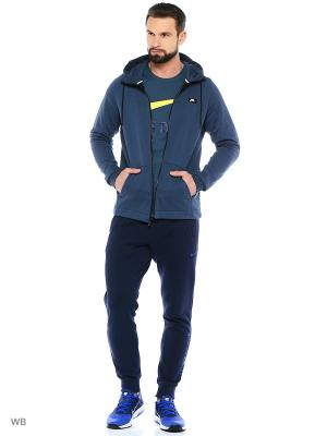 Толстовка M NSW MODERN HOODIE FZ FT Nike. Цвет: серо-голубой
