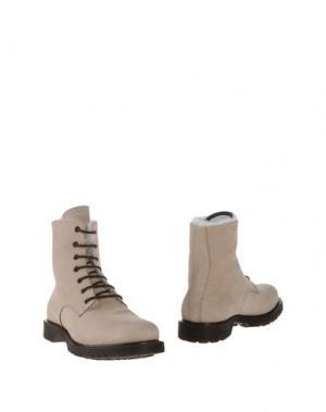 Полусапоги и высокие ботинки PANTOFOLA D'ORO. Цвет: песочный