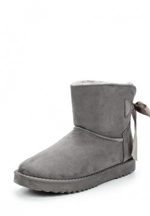 Полусапоги Max Shoes. Цвет: серый