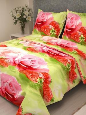 Комплект постельного белья Letto B107-3, бязь, 1,5-сп. Цвет: розовый